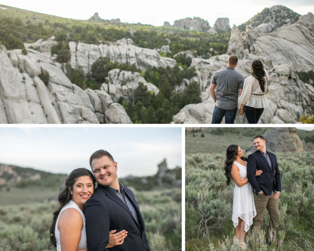 Idaho wedding photographer city of rocks engagement session carli and beau photography and videography